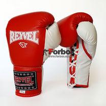 Профессиональные боксерские перчатки REYVEL Pro на шнуровке (0048-rd, красные)