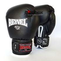 Боксерські рукавиці REYVEL вініл (0031-bk, чорні)