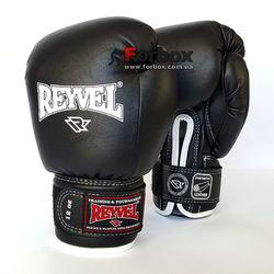 Боксерские перчатки REYVEL винил (0031-bk, черные)