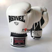 Боксерські рукавиці REYVEL вініл (0031-wh, білі)