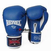 Перчатки для бокса REYVEL Fortuna винил с широким манжетом (BPRSM-BL, синие)