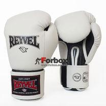 Перчатки для бокса REYVEL винил с широким манжетом (BPRSM-wh, белые)