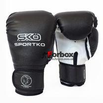 Боксерские перчатки SportKo винил (пд2, черные)