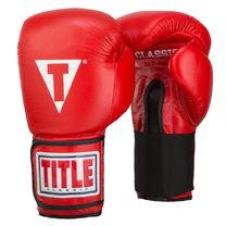 Боксерские перчатки TITLE Classic Leather Elastic Training Gloves (CTSGV-RD, Красный))
