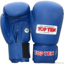 Боксерские перчатки Top Ten с лицензией AIBA (2010, синие)