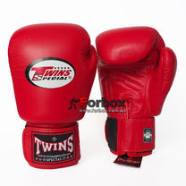 Боксерские перчатки Twins из натуральной кожи (BGVL-3-RD, красные)