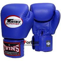 Боксерські рукавиці Twins із натуральної шкіри (BGVL-3-BU, сині)