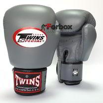 Боксерські рукавиці Twins із натуральної шкіри (BGVL-3-GR, сірий)