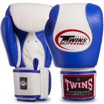 Боксерские перчатки Twins нат.кожа (BGVL9-BU, Сине-белый)