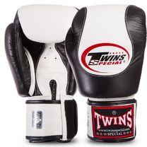 Боксерские перчатки Twins нат.кожа (BGVL9-BK, Черно-белый)