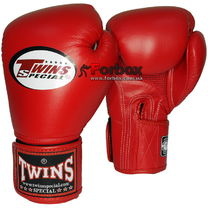 Боксерські рукавиці шкіряні Twins (BGVLA-1-RD, червоний)