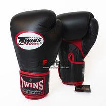 Перчатки боксерские из кожи Twins (BGVLA1-BK, Черный)