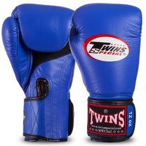 Перчатки боксерские из кожи Twins (BGVLA1-BU, Синий)