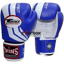 Боксерские перчатки TWINS Fighting Spirit (FBGV-43W, синие)