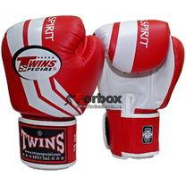 Боксерские перчатки TWINS Fighting Spirit (FBGV-43W, красные)