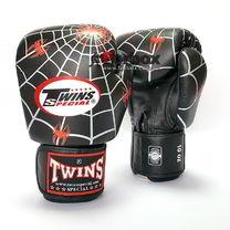 Боксерські рукавички Twins шкіряні (FBGV-8, чорні)