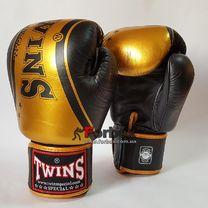 Боксерські рукавиці Twins  шкіряні (FBGV-TW4-BKG, чорно-золоті)