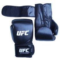 Рукавиці боксерські UFC шкіра+PU тренувальні (чорні)
