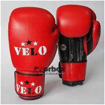 Боксерські рукавиці Velo Ahsan Star з ліцензією AIBA для змагань (VAIBA, червоні)