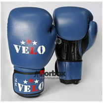 Боксерские перчатки Velo Ahsan Star с лицензией AIBA для соревнований (VAIBA, синие)