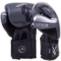 Боксерские перчатки VNM Elite на липучке из PU кожи (BO-2532-BKGR, черно-серый)