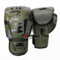 Боксерские перчатки VNM Elite на липучке из PU кожи (BO-2533-CAMO, зеленый)