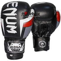Перчатки боксерские Venum кожаные Elite Neo (BO-5238-BKW, черно-белые)