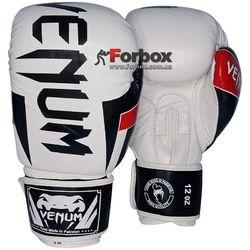 Перчатки боксерские Venum кожаные Elite Neo (BO-5238-W, белые)
