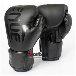 Боксерские перчатки Venum на основе PU кожи (BO-5698-BK, черные)