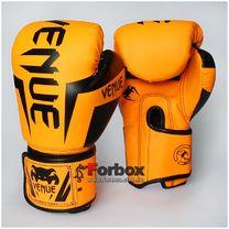 Боксерские перчатки Venum на основе PU кожи (BO-5698-OR, оранжевые)