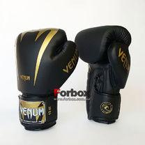 Боксерські рукавиці Venum Giant 2.0 на липучці з PU шкіри (BO-8349-BKG, чорно-золотий)