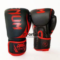 Боксерские перчатки Venum Challenger 2.0 на липучке из PU кожи (BO-8352-BKR, черно-красный)