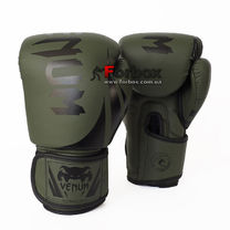 Боксерские перчатки Venum Challenger 2.0 на липучке из PU кожи (BO-8352-GN, зеленый)