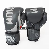 Боксерские перчатки Venum Challenger 2.0 на липучке из PU кожи (BO-8352-GR, серый)