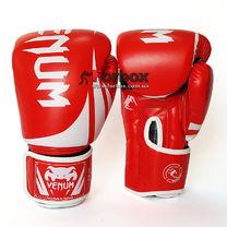 Боксерские перчатки Venum Challenger 2.0 на липучке из PU кожи (BO-8352-R, красно-белый)