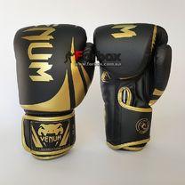 Боксерські рукавиці Venum Challenger 2.0 на липучці з PU шкіри (BO-8352-BKG, чорно-золотий)