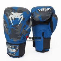 Перчатки боксерские Venum кожаные (DCS014, синий)