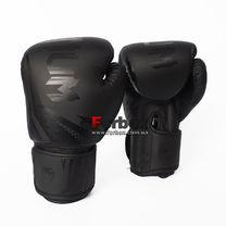 Боксерские перчатки Venum Challenger 3.0 на липучке из PU кожи (BO-0866-BK, черный)