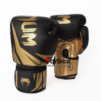 Боксерские перчатки Venum Challenger 3.0 на липучке из PU кожи (BO-0866-BKG, черно-золотой)