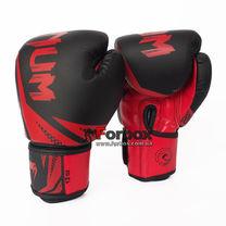 Боксерские перчатки Venum Challenger 3.0 на липучке из PU кожи (BO-0866-BKR, черно-красный)