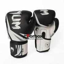 Боксерские перчатки Venum Challenger 3.0 на липучке из PU кожи (BO-0866-BKW, черно-белый)