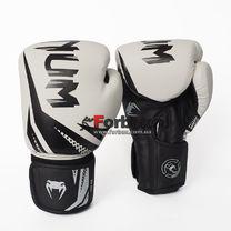 Боксерские перчатки Venum Challenger 3.0 на липучке из PU кожи (BO-0866-WBK, бело-черный)