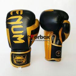 Рукавички боксерські Venum Elite 2.0 натуральна шкіра (VL-8291-BK, черно-золотий)