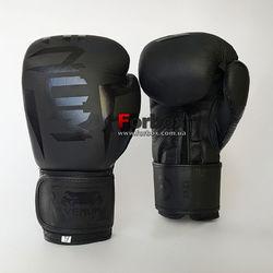 Рукавички боксерські Venum Elite 2.0 натуральна шкіра (VL-8291-GR, чорний)