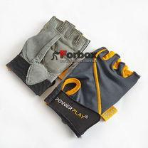 Рукавички для фітнесу Power Play Womans (pp1725-B, сіро-жовтий)