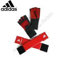 Перчатки для фитнеса Adidas с утяжелителями (ADISTG1, красно-черные)