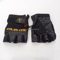 УЦЕНКА Перчатки тренажерные Golds Gym для зала из кожи (BC-3609, черные)