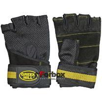 Тренажерные перчатки Green Hill (WLG-6430, кожа)