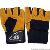 Рукавиці для залу Serious Fitness тренажерні  (SF-1418, жовті)