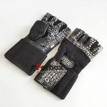 Рукавички для тренажерного залу Velo з натуральної шкіри (VL-3234, чорний)